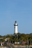 Historic lighthouse located on St Simons Island Stock Photo