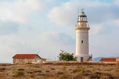 Historic Lighthouse at Paphos, Cyprus Stock Photo
