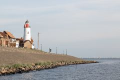 Historic lighthouse of Urk, the Netherlands Royalty Free Stock Photo