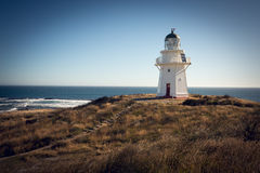 Historic Lighthouse at Waipapa Point New Zealand Stock Image