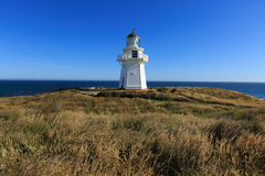 Historic Lighthouse at Waipapa Point New Zealand Royalty Free Stock Photography