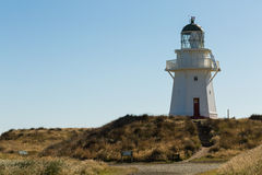 Historic Lighthouse at Waipapa Point New Zealand Royalty Free Stock Photos