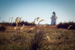 Historic Lighthouse at Waipapa Point New Zealand Stock Images