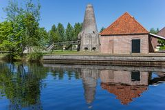 Historic lime kiln in the center of Hasselt. Holland royalty free stock photo