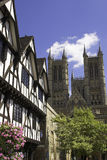 Historic Lincoln. Lincoln Cathedral In The Historic City Of Lincoln, England, U.K stock photos