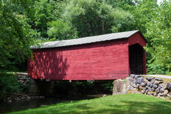 Historic Link Farm Covered Bridge Royalty Free Stock Images
