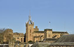 Historic Linlithgow. Skyline view over some of the  historic buildings of Linlithgow, West Lothian, Scotland Stock Photography