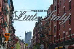 Historic Little Italy in NYC, USA Stock Images
