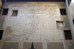 Historic Ljubljana Map Stock Images