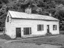 Lock House on the C & O Canal, Maryland (B/W) Stock Image
