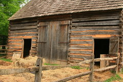 Historic Log Barn. In Lancaster Royalty Free Stock Photos
