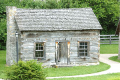 Historic Log Cabin 1770 stock image