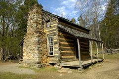 Historic Log Cabin. In Cades Cove, TN Stock Images
