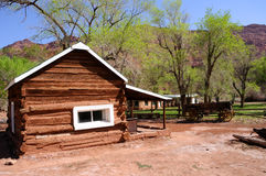 Historic Log Cabin at Lee's Ferry Stock Photography
