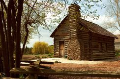 Historic Log Home. A preserved log home Stock Photography