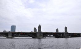 Free Historic Longfellow Bridge Over Charles River From Boston In Massachusettes State Of USA Royalty Free Stock Image - 108775796