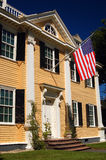 The historic Longfellow house. The Historic Home of Poet Henry Wadsworth Longfellow, currently operated by the National Park Services Royalty Free Stock Image