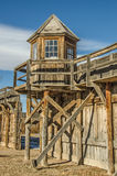 Historic Lookout Tower. Wooden lookout tower at Wyoming Territorial Prison in Laramie, Wyoming Stock Images