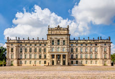 Historic Ludwigslust Palace in northern Germany. Ludwigslust Palace in Baroque architecture style in the town of Ludwigslust, Mecklenburg-West Pomerania Stock Image