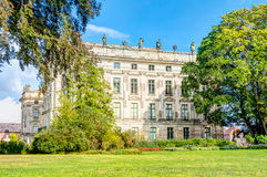 Historic Ludwigslust Palace in northern Germany. Ludwigslust Palace in Baroque architecture style in the town of Ludwigslust, Mecklenburg-West Pomerania Stock Photo