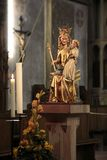 Historic Madonna statue. (1350) in the church of St. Valentinus in Kiedrich, Rheingau, Hesse, Germany Stock Images