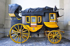 Historic mail horse carriage on display in Zurich Stock Photography