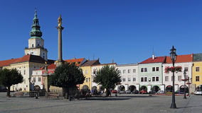 Historic main square in Kromeriz , Czech republic. Historic main square of Kromeriz which is inscribed on the list of the world cultural heritage UNESCO royalty free stock images