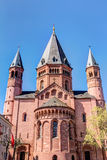 Historic Mainz Cathedral. St. Martin's Cathedral in the old town of Mainz, Germany Stock Image