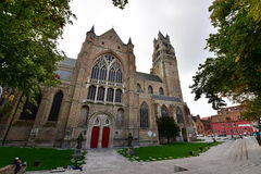 Historic and majestic Saint Salvator's Cathedral in Bruges Royalty Free Stock Image