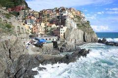Historic Manarola in Cinque Terre, Italy Royalty Free Stock Images