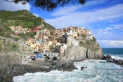 Historic Manarola in Cinque Terre, Italy Royalty Free Stock Image
