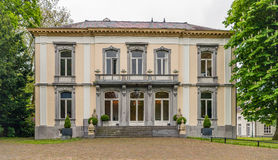 Historic manor house in springtime stock photos