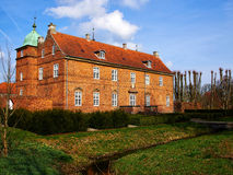 Historic mansion house on Fyn Funen Island Denmark. Historic typical classical built mansion manor house on Fyn Funen Island Denmark Royalty Free Stock Photo