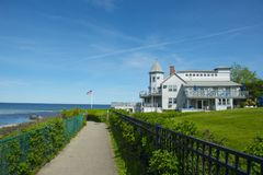 Historic mansion on Marginal Way in Ogunquit, ME, USA Stock Photos