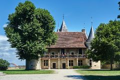 Historic mansion in Rumilly-les-Vaudes. In Champagne Royalty Free Stock Image