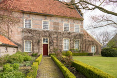 Historic mansion in the smallest town of The Netherlands. Royalty Free Stock Images