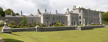 Historic mansion and terrace. Scenic, historic mansion and terraced gardens at Powerscourt, County Wicklow, Ireland.  Panoramic view Stock Photos