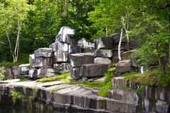 Historic Marble Quarry in Dorset, Vermont. In Dorset, Vermont,  is the oldest marble quarry in the U.S., operational from 1785 to 1917 Royalty Free Stock Photography