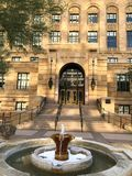 Historic Maricopa County Court House. PHOENIX, AZ, USA - DECEMBER 14, 2017: Entrance to historic Maricopa County Court House from Washington Street in Phoenix Royalty Free Stock Images