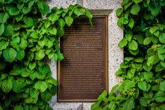 Historic marker at the Baldwin Steps at Spadina Park, in Midtown. Toronto, Ontario Royalty Free Stock Image