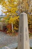 Historic Marker Border Treaty. Historic Marker for Yukon Canada and Alaska United States Border Treaty in 1929 Royalty Free Stock Photography