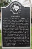 Historic marker in Gruene Texas Stock Image