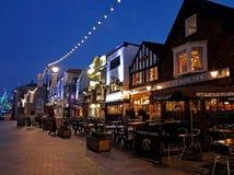 Historic Market Square Salisbury. At Christmas Stock Photo