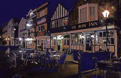 Historic Market Square Salisbury. Lit up at night Royalty Free Stock Photography