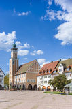 The historic marketplace with the town hall in Freudenstadt Royalty Free Stock Images