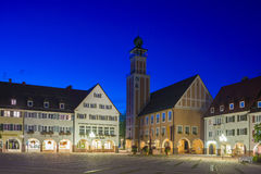 The historic marketplace with the town hall in Freudenstadt Stock Photos
