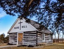Historic Mars Hill Church in Iowa stock image