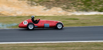 Historic Maserati F1 racing car at speed Stock Image