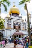 Historic Masjid Sultan Mosque in Singapore Stock Photo