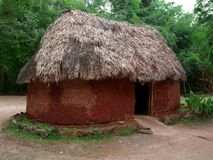 Historic mayan hut Stock Photo